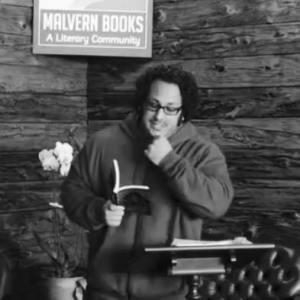 Gabino Iglesias at a reading,